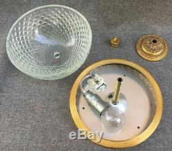 Vintage french chandelier lamp 1980-90's made of brass and glass Louis XVI style
