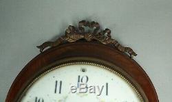 WOODEN FRENCH WALL CLOCK LOUIS XVI Free Worldwide Shipping