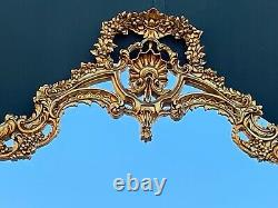 Wooden French Wall Mirror in Louis XVI Style